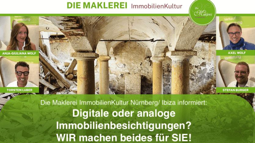 Digitale oder analoge Immobilienbesichtigungen? WIR machen beides für SIE!