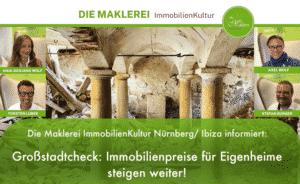 Großstadtcheck: Immobilienpreise für Eigenheime steigen weiter!