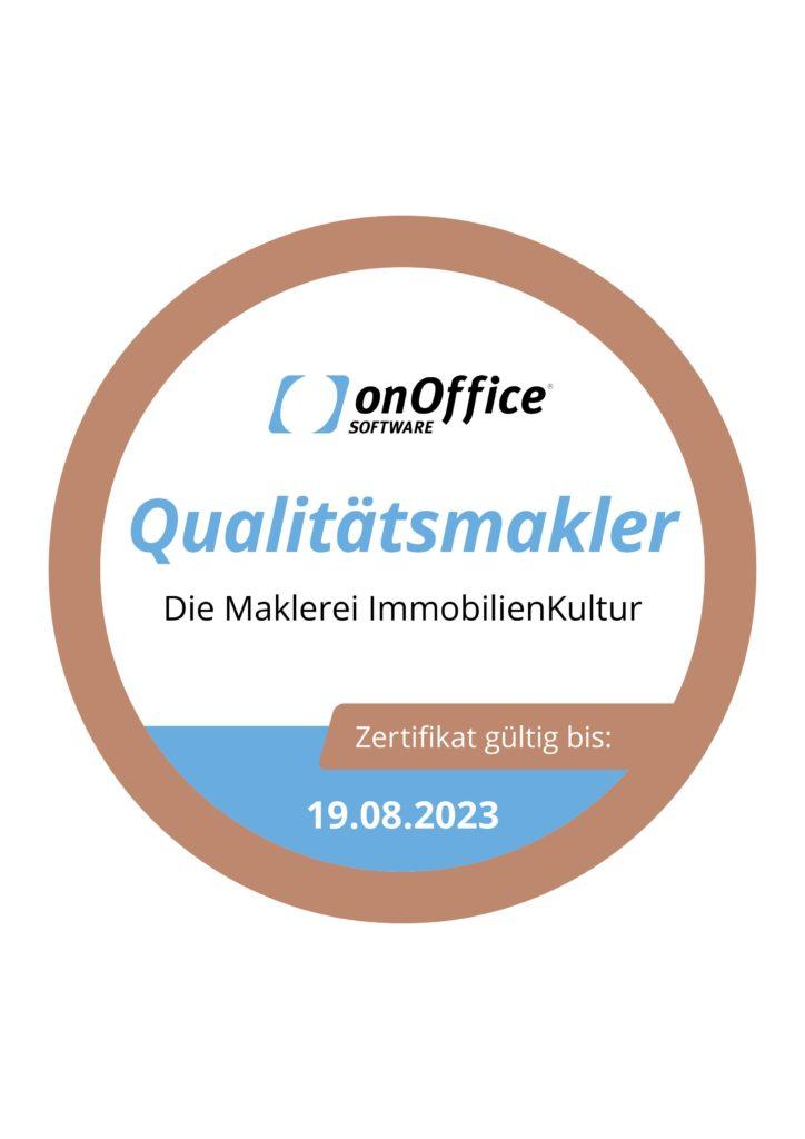 onOffice Qualitätsmakler Bronze Logo